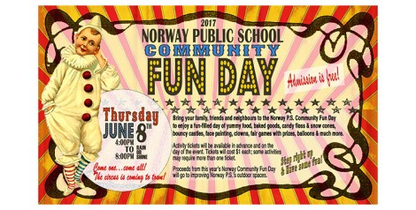 Norway Public School Community Fun Day - Thursday, June 8