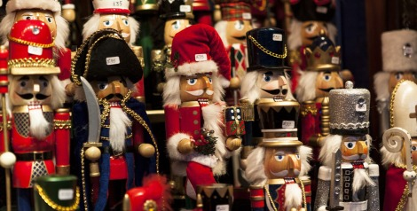 Nutcrackers for sale at holiday market